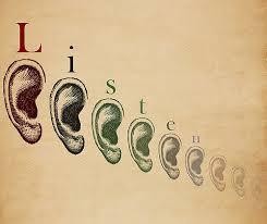 Don't speak...listen