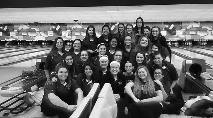The girls' bowling team hs enjoyed a successful season, and are looking to advance someone to state.