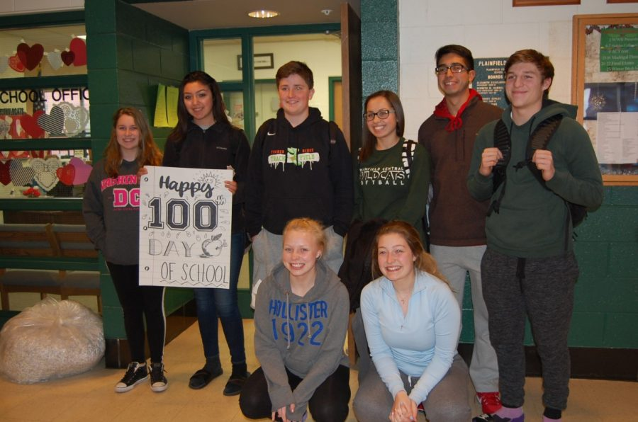 The winners of the 100th day festivities.