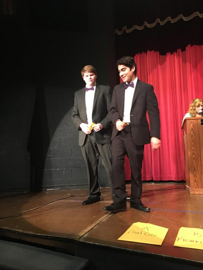 Juniors Guillermo Vazquez and Jayden Bauer placed 8th in Humorous Duet Acting—Two away from breaking into finals.