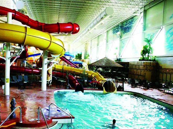Kalahari Resorts & Conventions  in Wisconsin Dells has an indoor waterpark for guests.