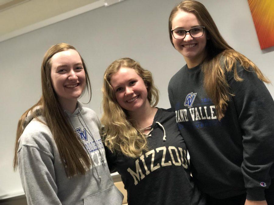 Emma Desiderio, Taylor Corich, and Danielle Henderson
