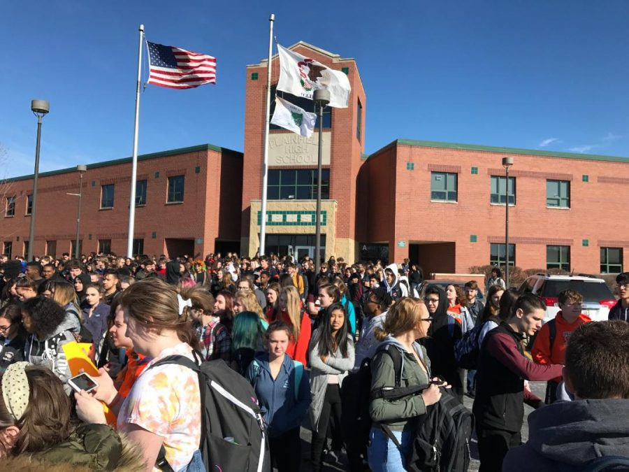 Students walkout on March 14.