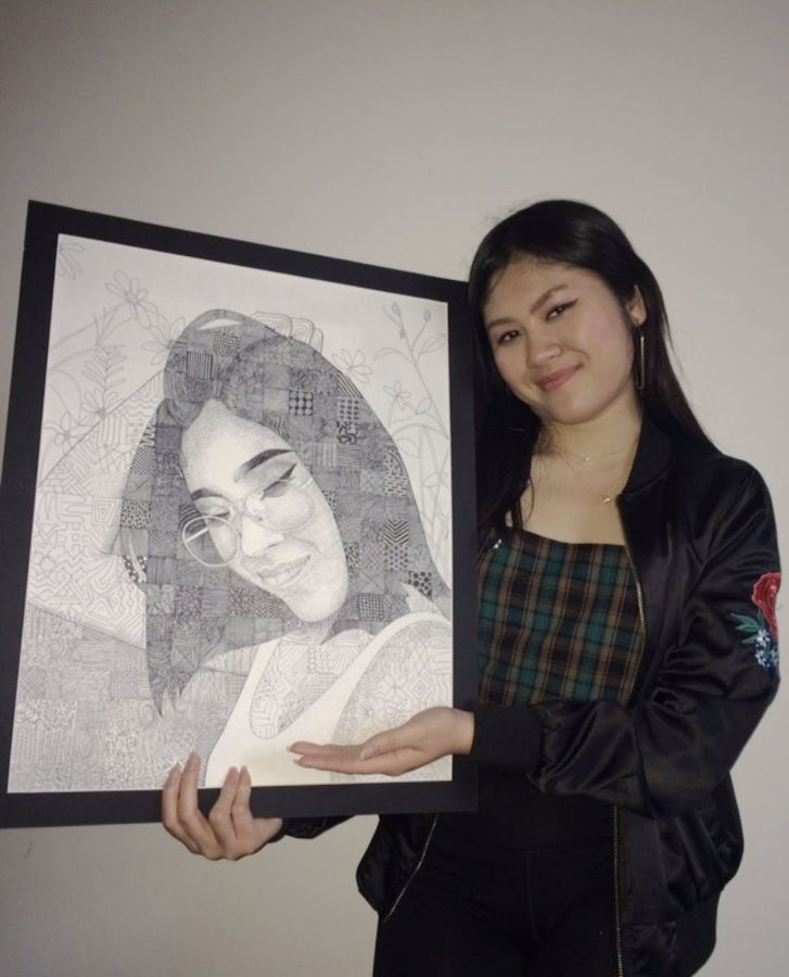 """""""The most influential person in my life is my older sister; she's in college right now and spreads a lot of positivity and that really motivates me. My other sister, Nasa, drew a really nice portrait of me and she entered it in a lot of art contests and won a bunch of prizes for it. It's really cool and I have it hanging up in my room right now. I also work at a nail salon."""""""