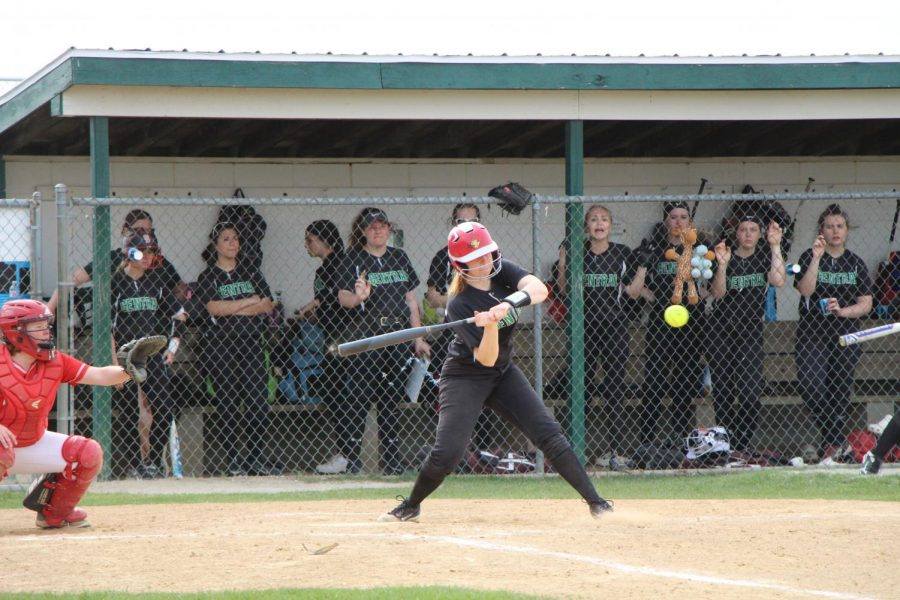 Payton Irwin, junior, bats against Naperville Central on May 1. The Wildcats won 8-5.