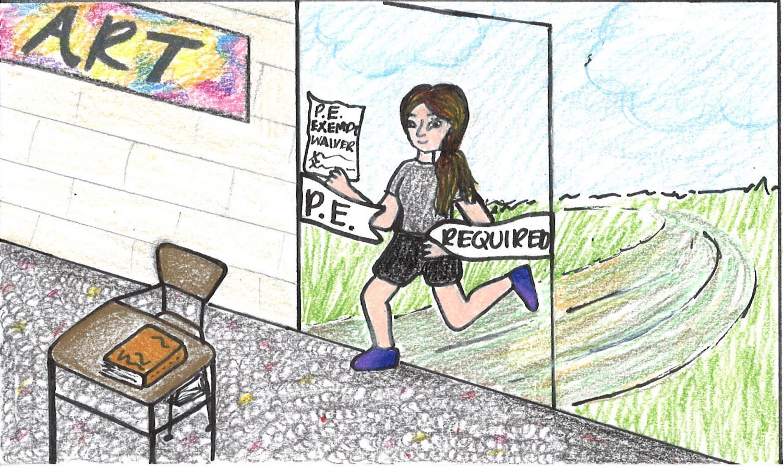 Cartoon by Hannah Kopek