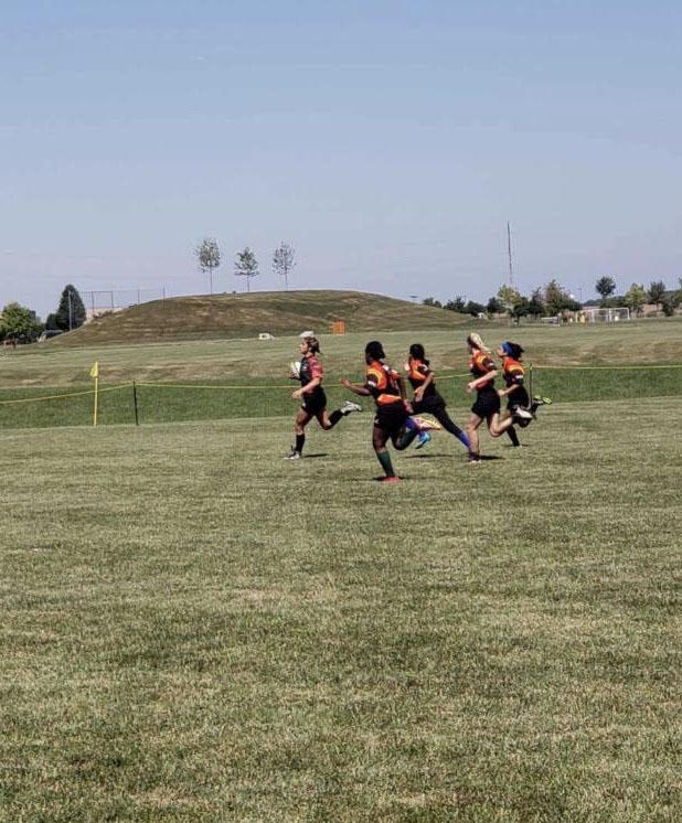 Naudia Robinson, junior, sprints towards the goal. The Thundercats had a 4-2 winning record in their fall season.