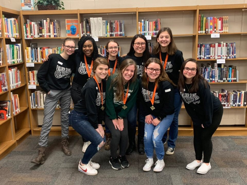 Six students earned 1st place medals at the Minooka journalism competition on Saturday.