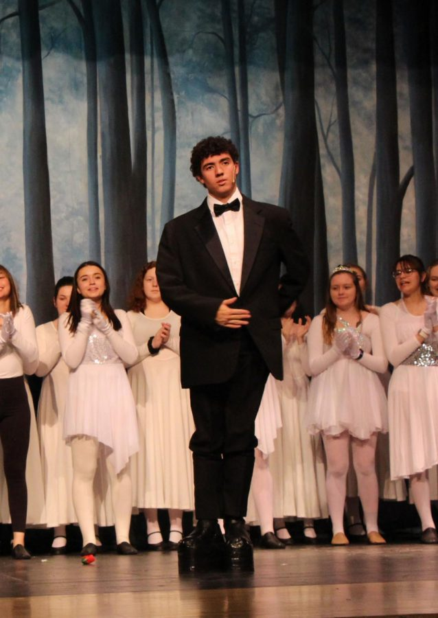 Sophomore Brayden Ruland (Lurch) moves up the stage during the finale