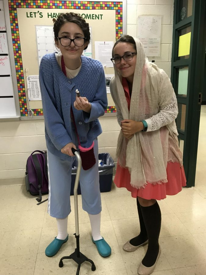 Mia Listello(senior) and Sarah Mohlar(senior)