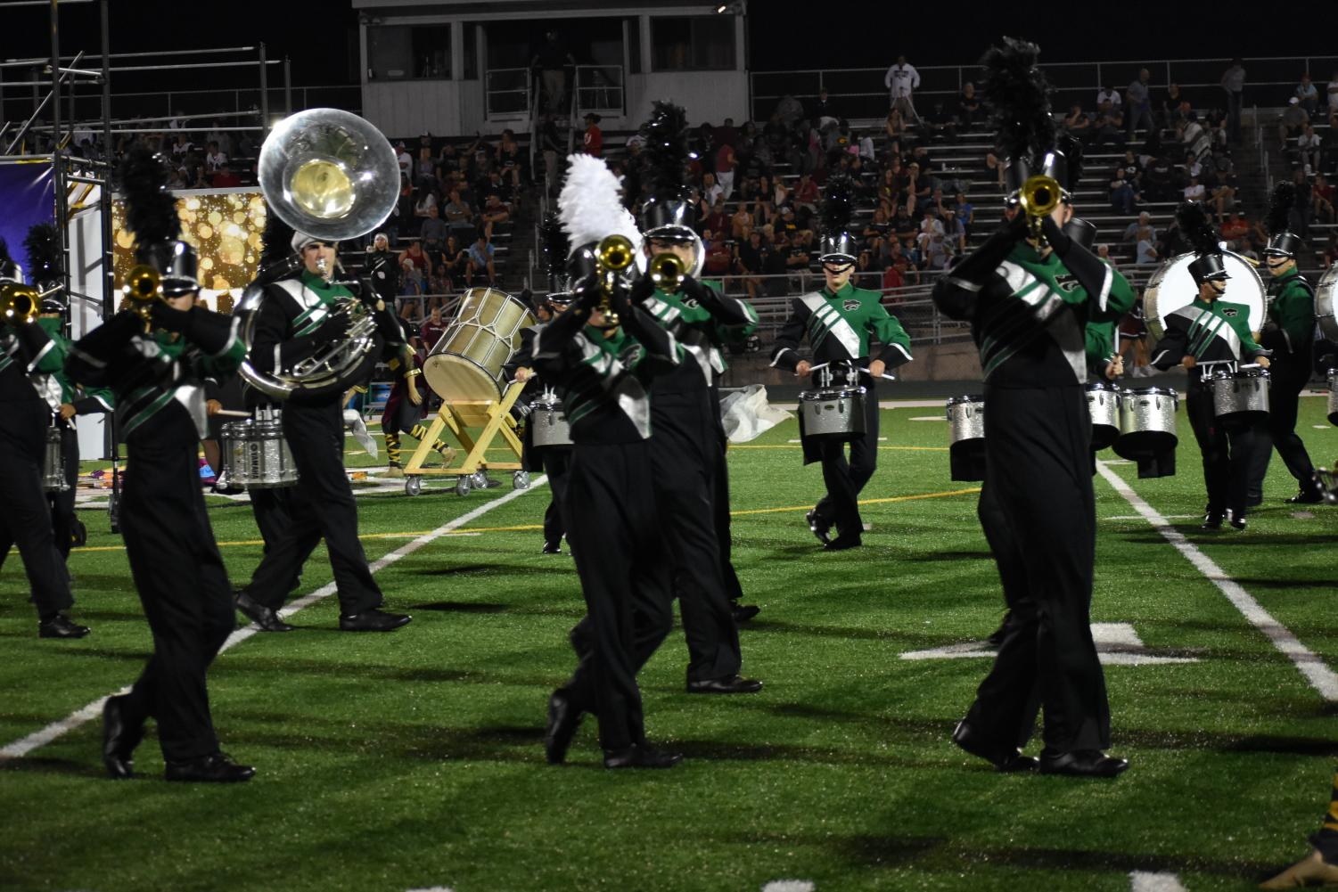 The band performed at Plainfield South and recieved 3rd place for class 3A and best percussion.