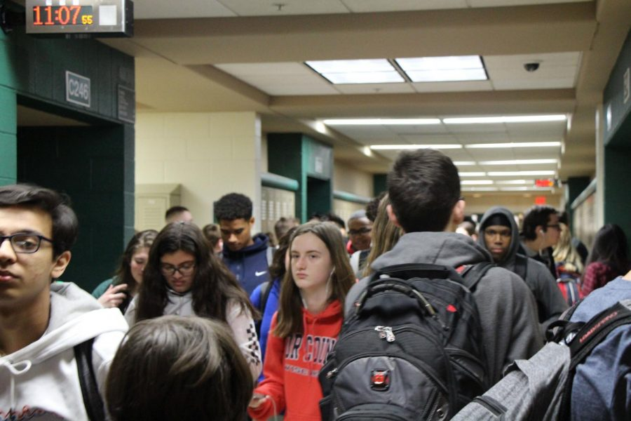 For some students, the combination of condensed spacing and loud noises make hallways a daily stressor.