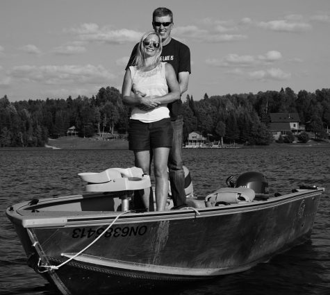 Bridget Taylor, dance teacher, takes a boat ride over summer break with her husband Ryan at the camp they own in Ontario, Cananda.