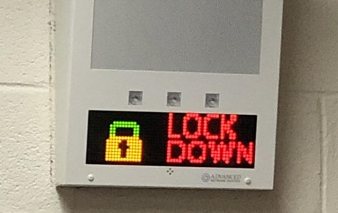 During a lockdown drill, the alarms now display a visual, words, and  flashing lights.