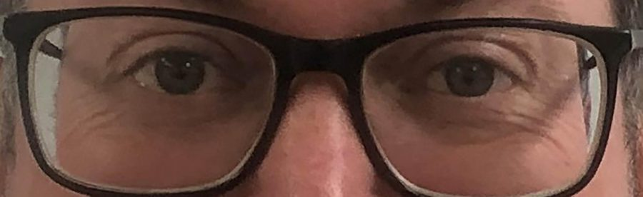 Teachers will guess who Tim Torkelson, PE teacher, is based on his eyes.