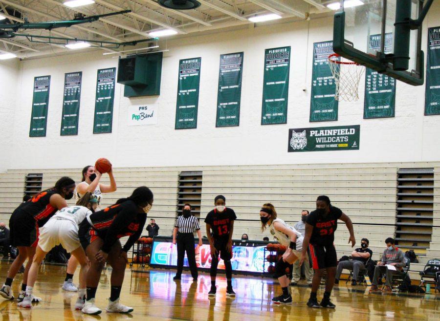 Senior, Georgia Jackson shoots a free throw. The Wildcats won 65-36.