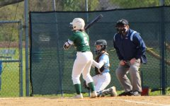 Emma Polanski steps up to the plate in the Wildcats 5-3 loss to Joliet Catholic Academy.